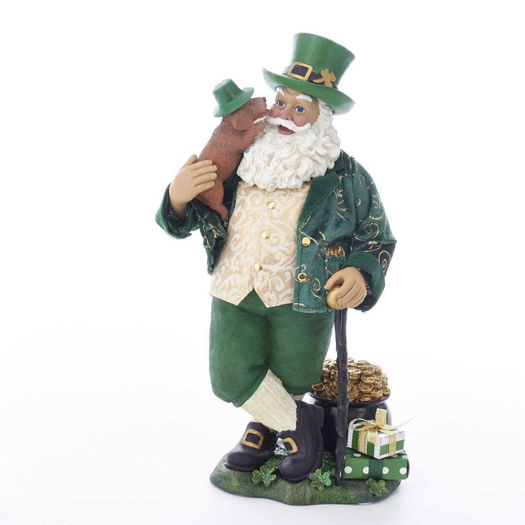 Irish Santa With Dog - Musical