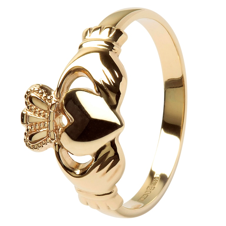 Ladies 10K Gold Claddagh Ring -10L1