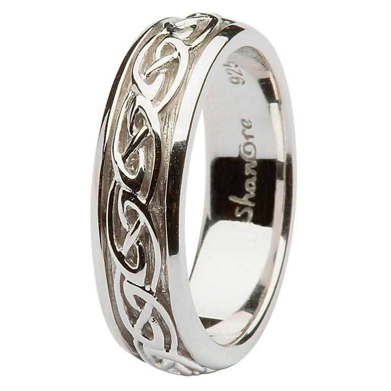 Ladies Silver Celtic Knot Ring - SD10