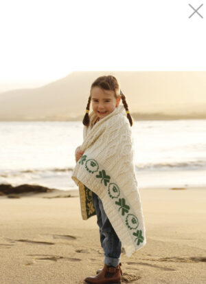 Sheep & Shamrock Baby Blanket