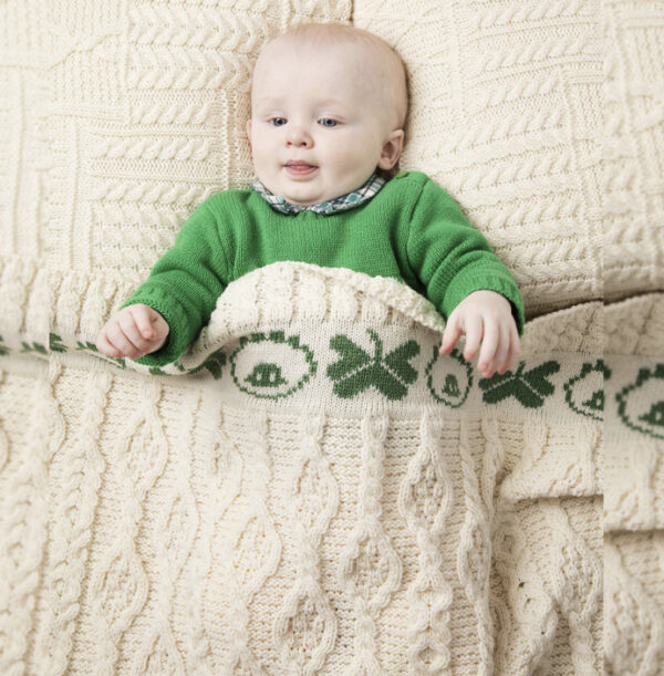 Sheep & Shamrock Baby Blanket