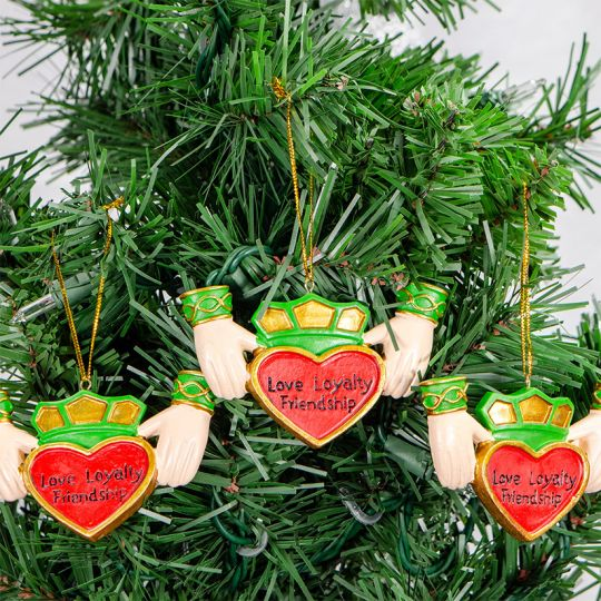 Claddagh Heart Ornament set of 3