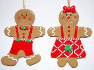 Irish Gingerbread Couple Ornament