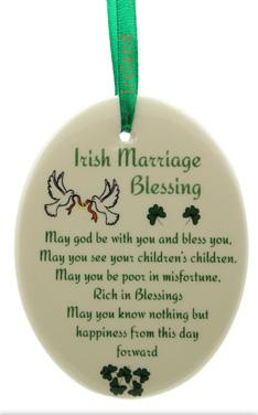 Irish Marriage Blessing Ornament