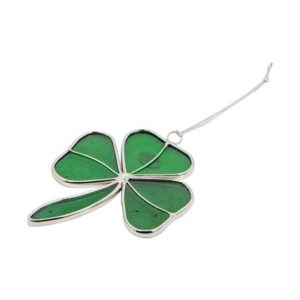 Wee Irish Glass Shamrock