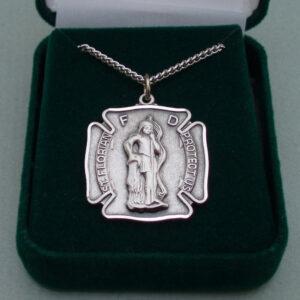 St. Florian Medal (firefighter) / Sterling Silver