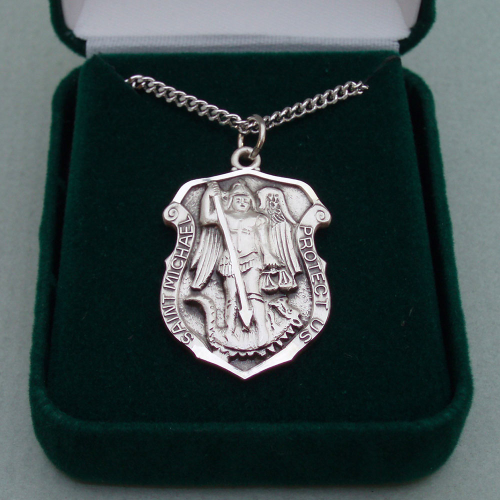 St. Michael Medal (Police) / Sterling Silver