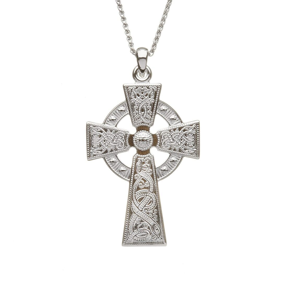 Celtic Warrior Celtic Cross - Medium - WC3-SIL
