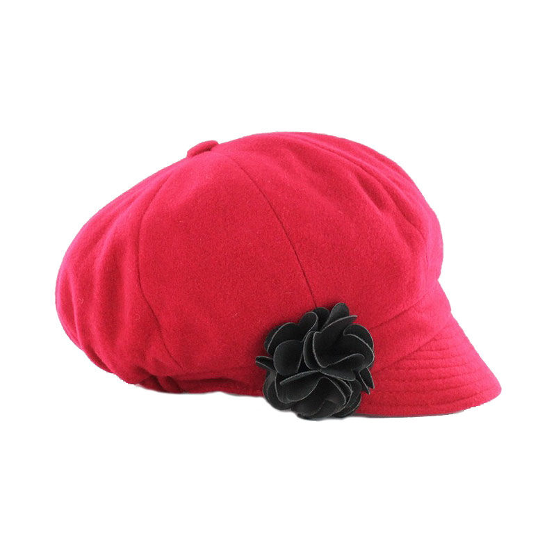 Ladies Irish Hat Newsboy Red