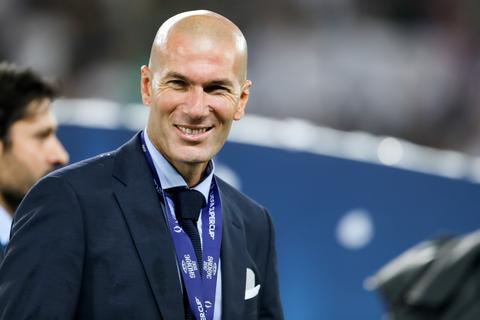 Real Madrid coach Zinédine Zidane