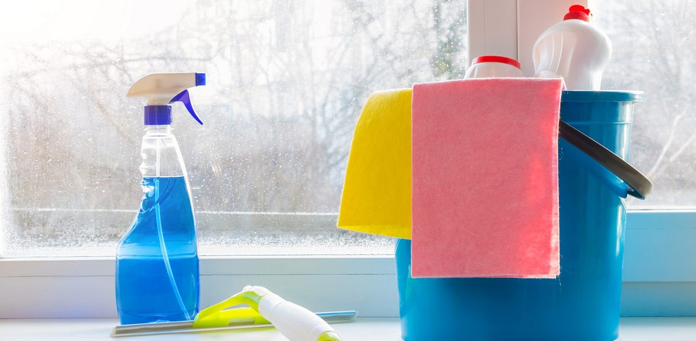 Use natural ingredients for window cleaning.