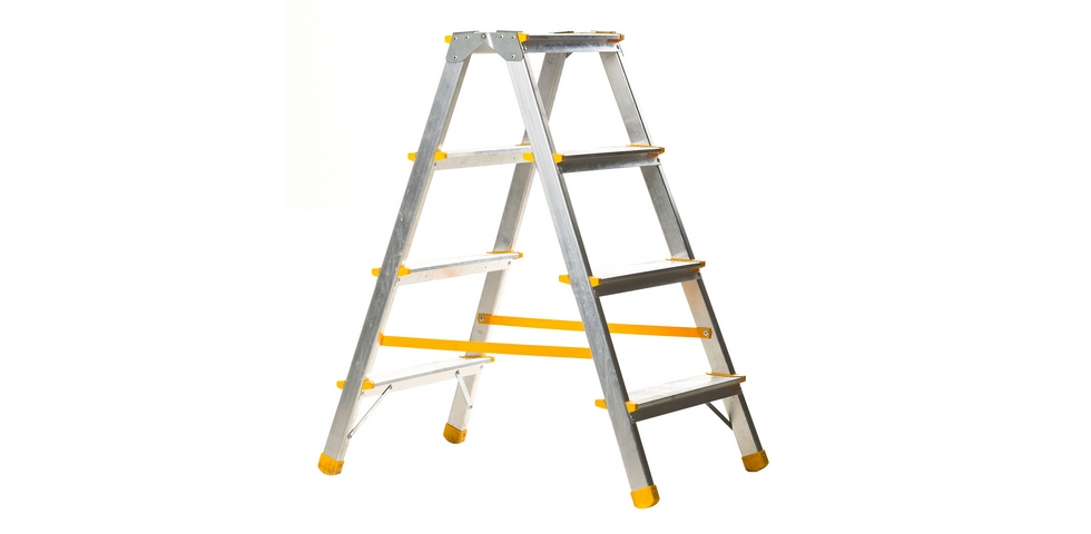 Stepladders are useful high ceiling cleaning tools.