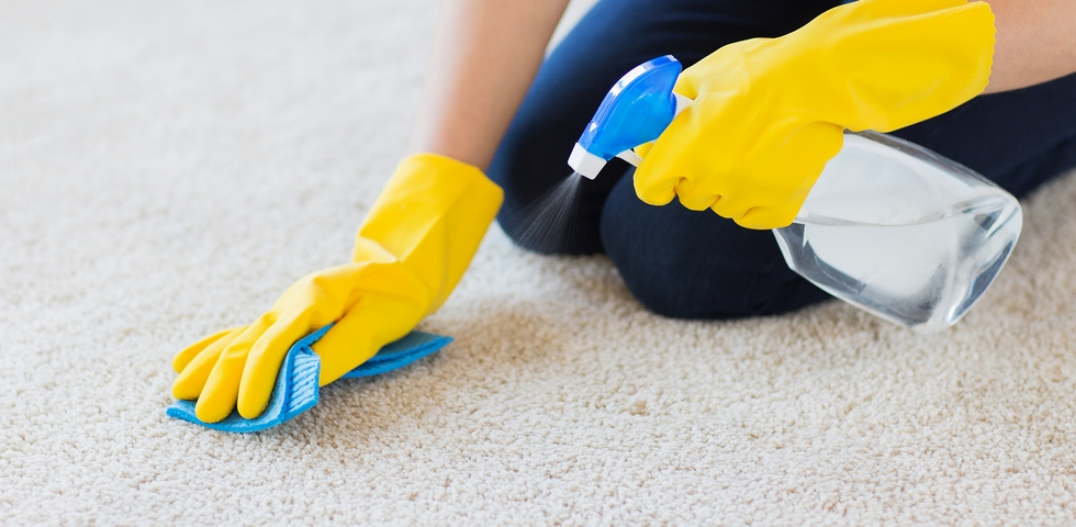 Test out the cleaning product before you apply it.