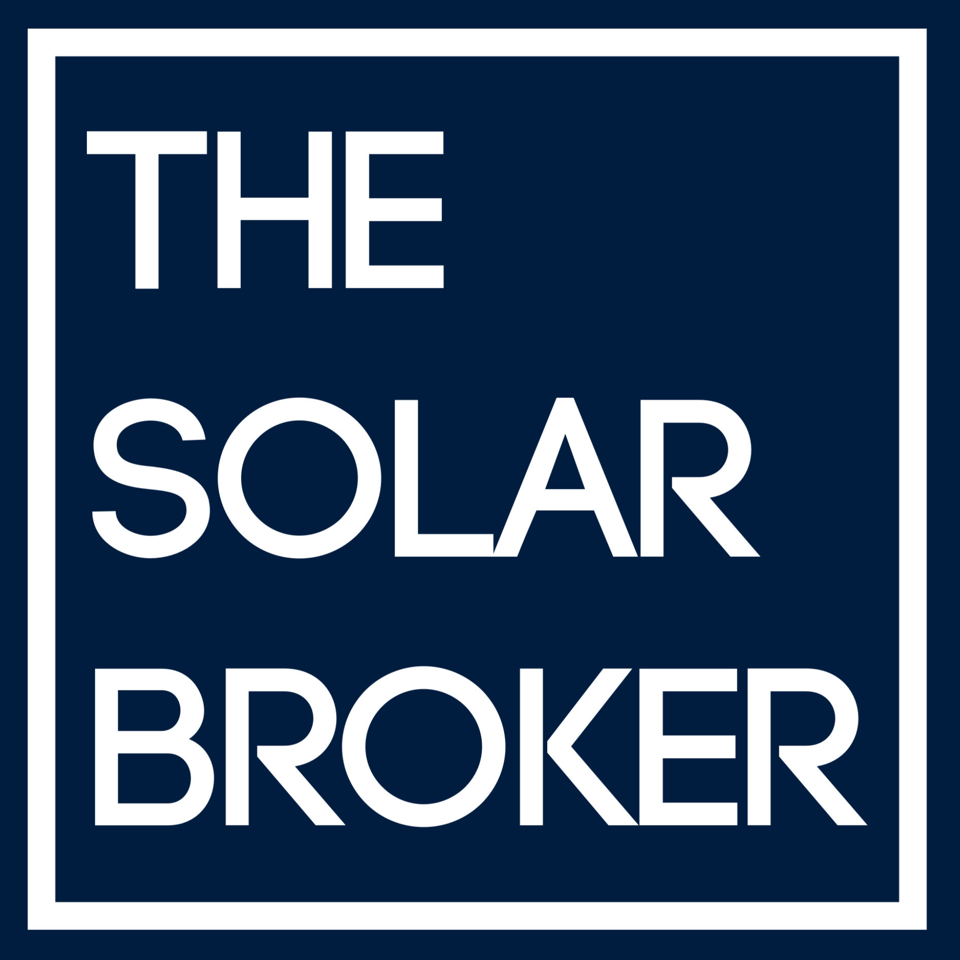 The Solar Broker Square Logo Mid Blue copy
