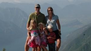 Rounds Family in Riva del Guarda, Italy