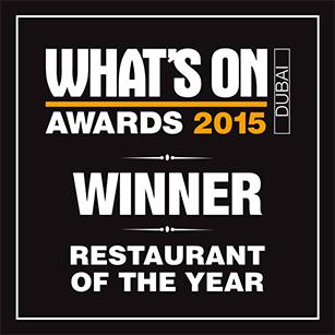 2015 Restaurant of the Year – Winner