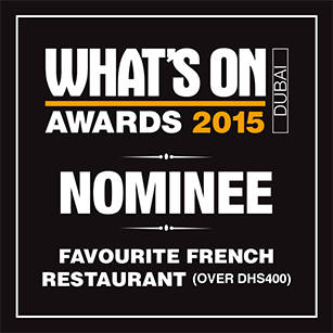 2015 Favourite French Restaurant (Over Dhs400) – Nominee
