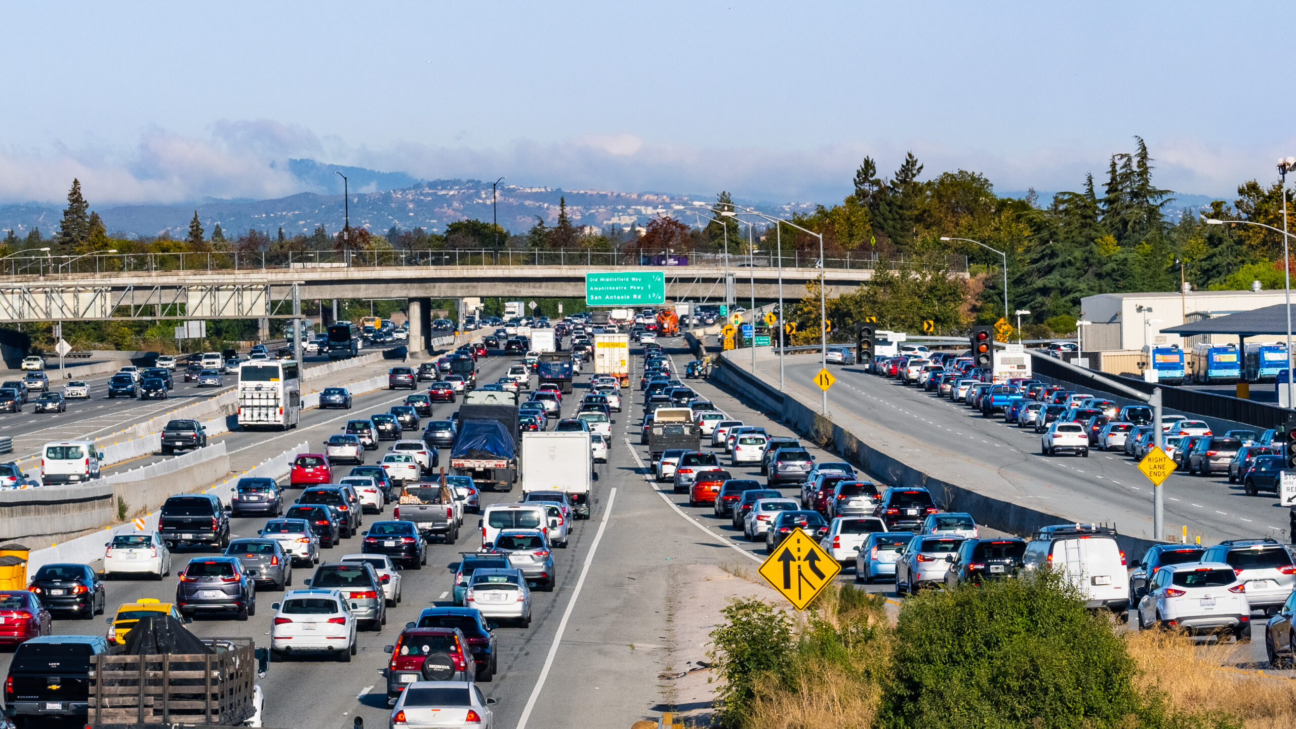 Silicon Valley California Highway traffic