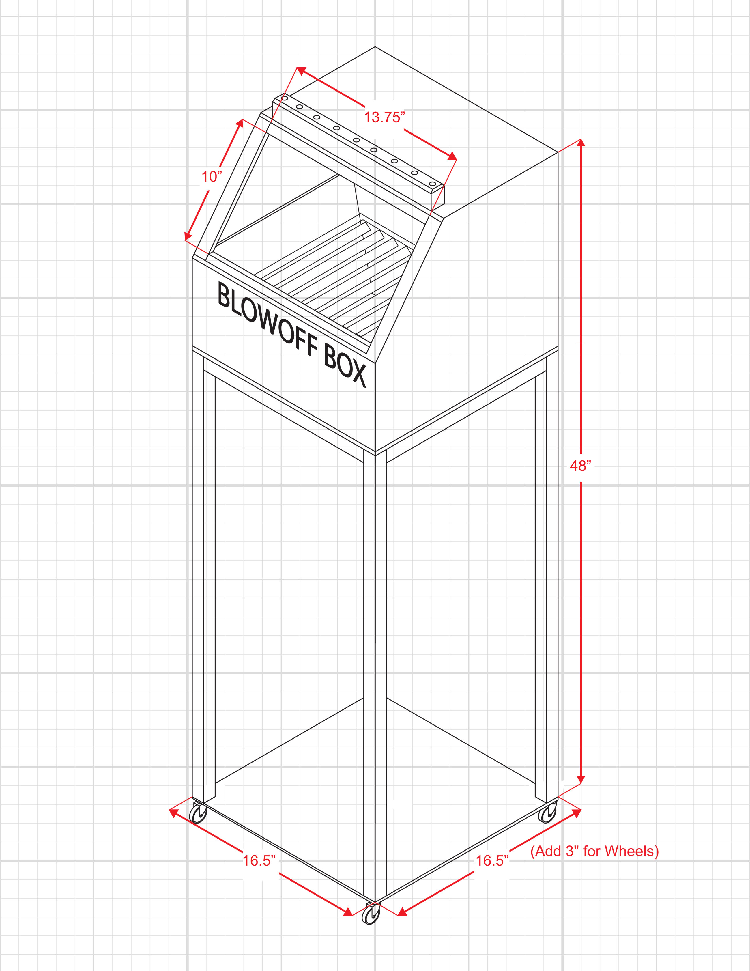 Mist Containment Station Drawing Dimensions