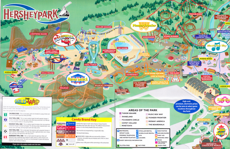 Hershey Park Map