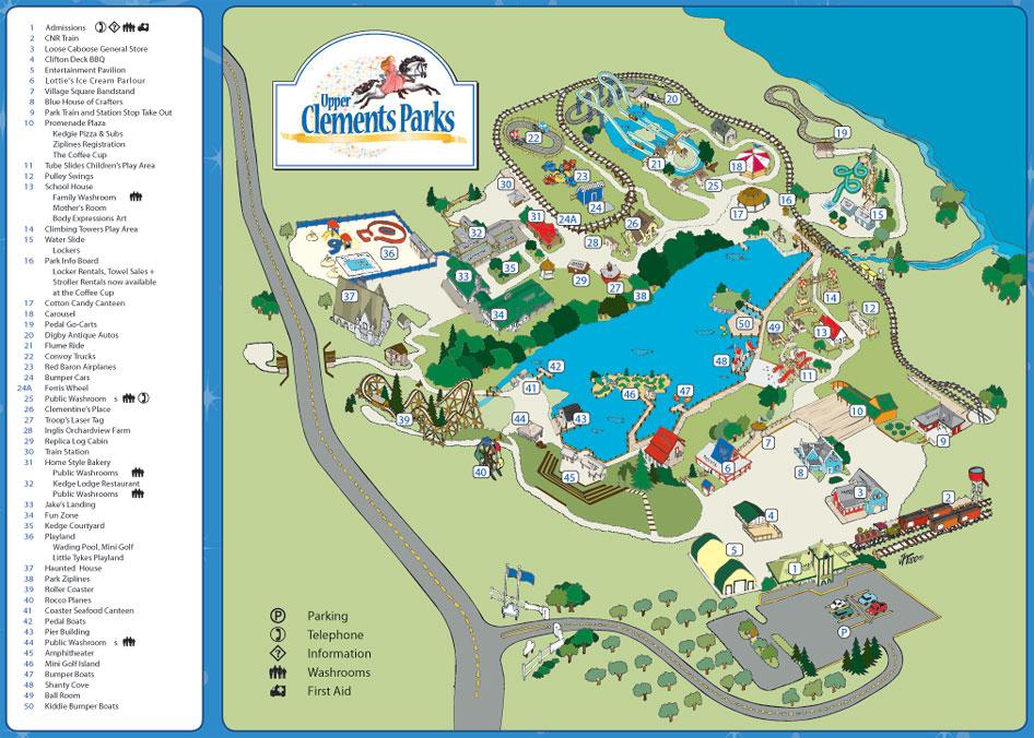 Upper Clements Park Map