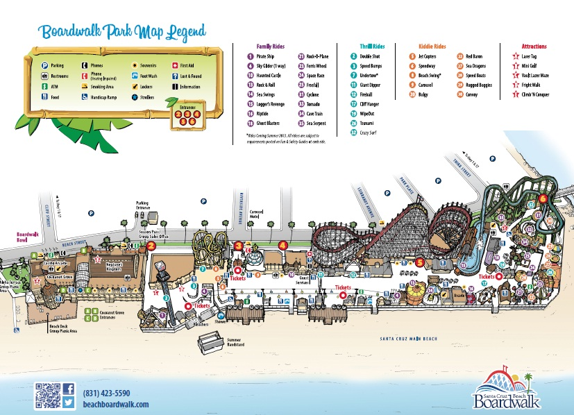 Santa Cruz Boardwalk Map