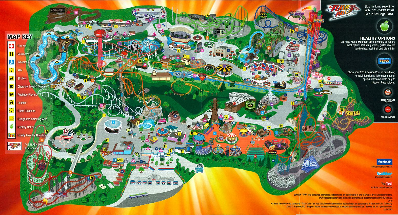 Six Flag Magic Mountain map