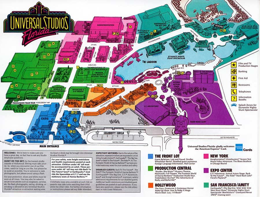 Universal Studios Florida map