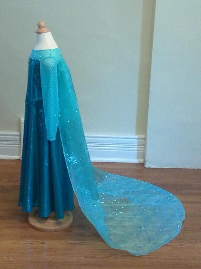 Elsa Frozen dress side view
