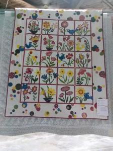 """""""Enchanted Garden"""" Appliqued by Lynn Mokriy"""