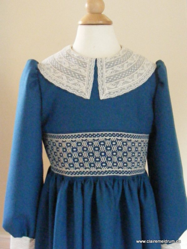 lace and wool smocked dress (10)