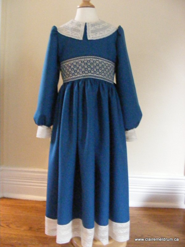 lace and wool smocked dress (5)