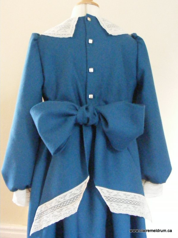 lace and wool smocked dress (7)