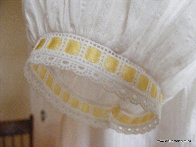 primrose smocked bishop sleeve detail