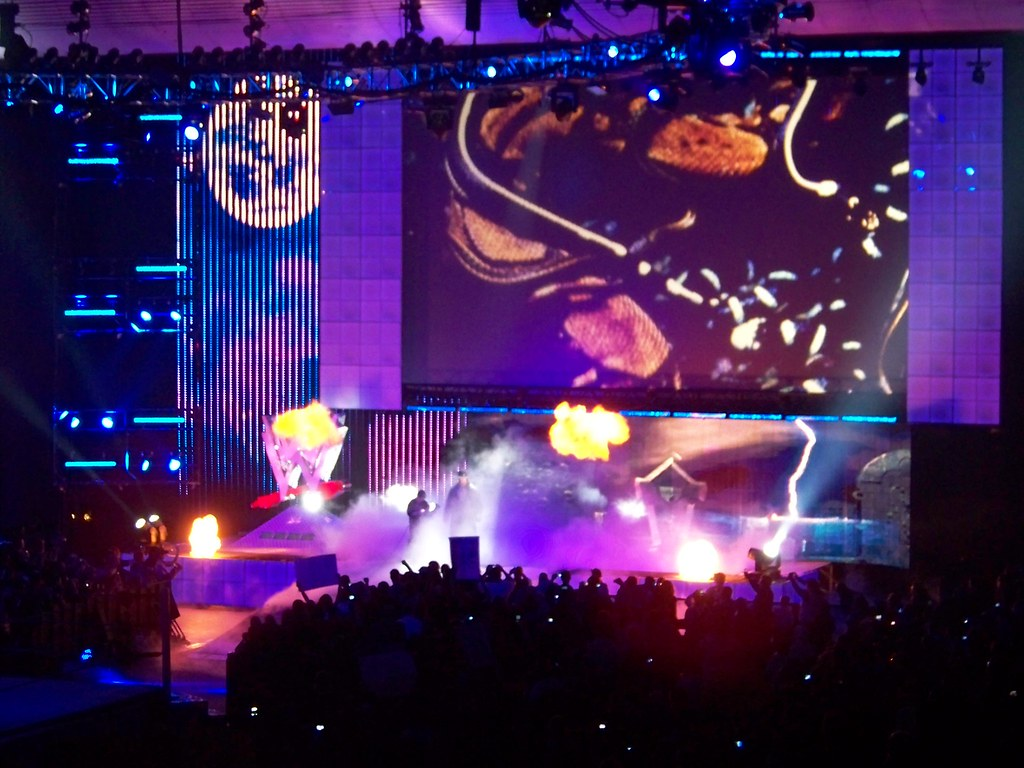 WWE Logo and Stage