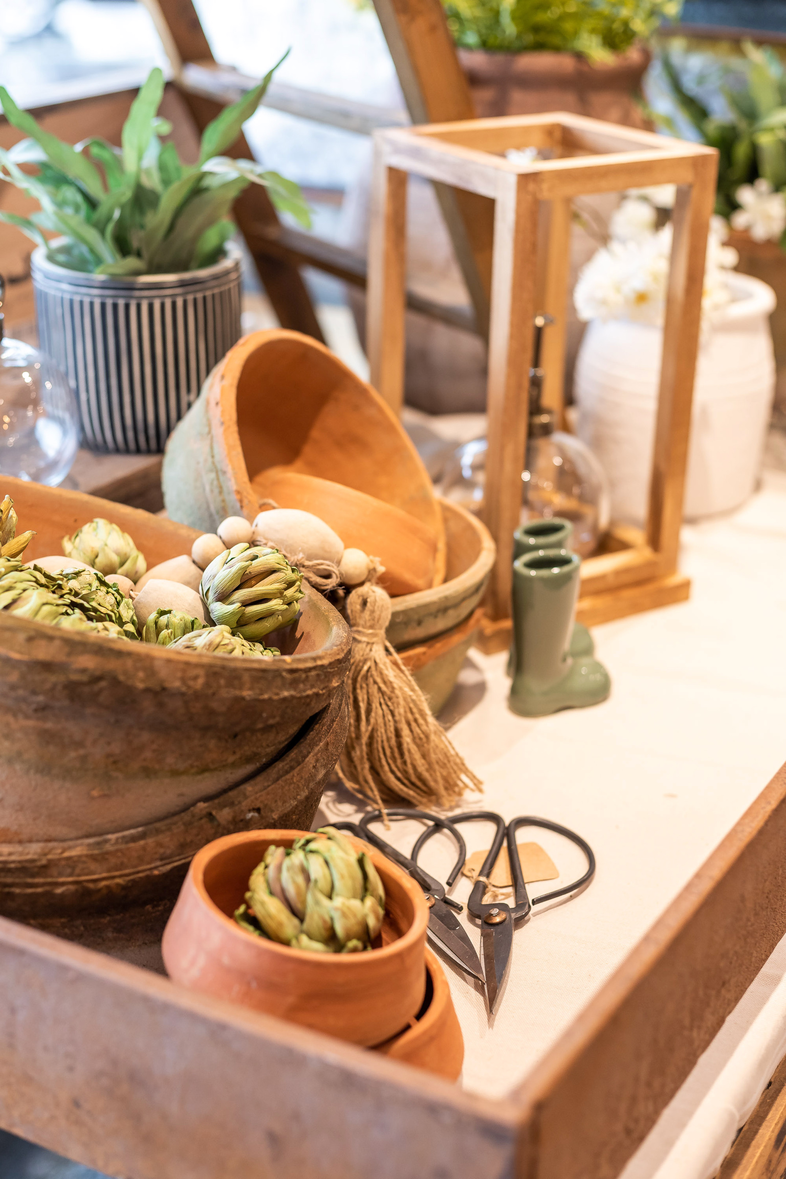 Natural home decor, gifts, and greenery