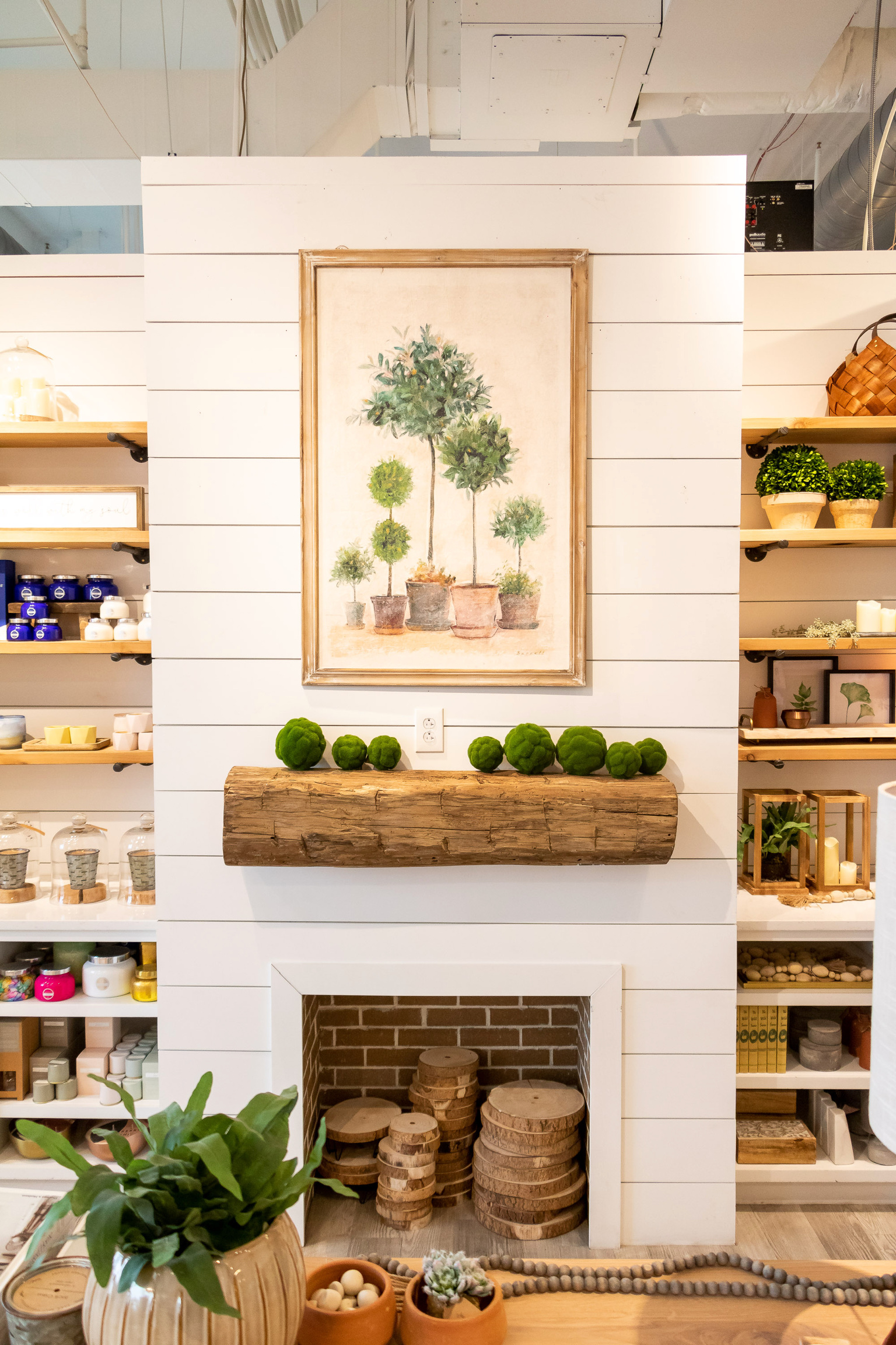 Mantle Decor at Homegrown Marketplace