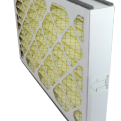 yellow disposable air filter