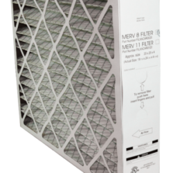 white box style air filter