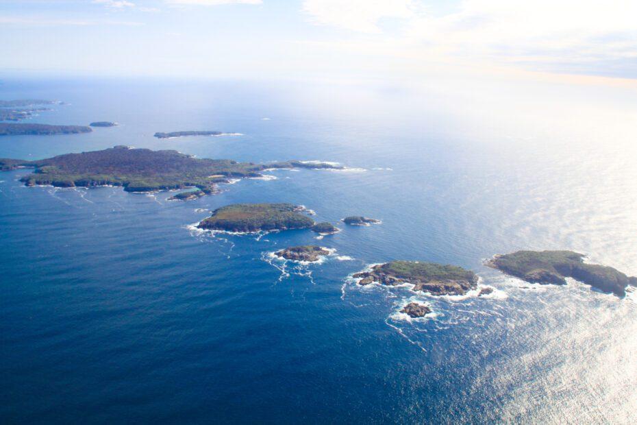 Stewart Island from above