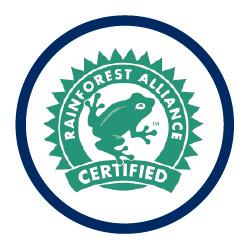 logo certificación rainforest