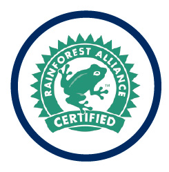 logo certificación rainforest