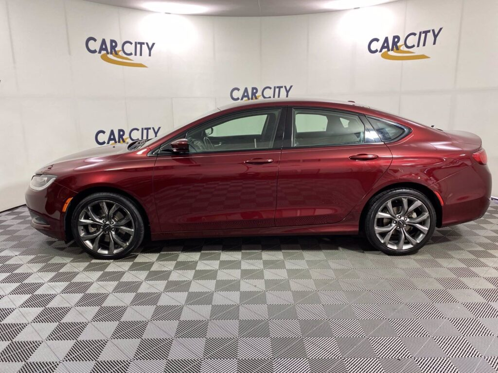 Red 2015 Chrysler 200 at Car City