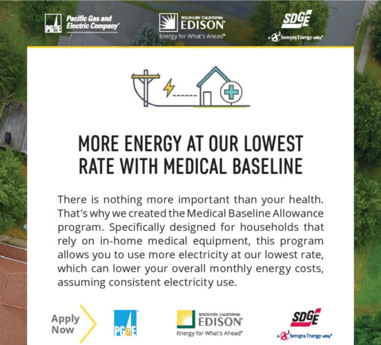 Graphic for lower energy rate