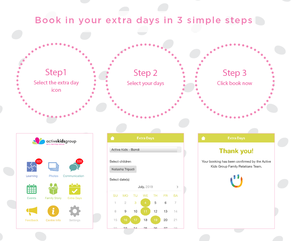 Active Kids Group | AKG App Steps for Casual Care |