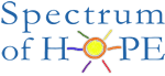Spectrum of Hope logo with a sun illustration over the letter 'o' on Hope