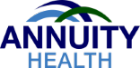 annuity health logo and an illustration of three half circles overlapping each other above the words