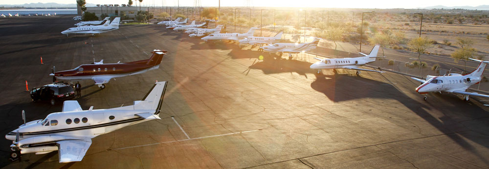 Why Glendale? Park your corporate jet at Glendale Aero Services