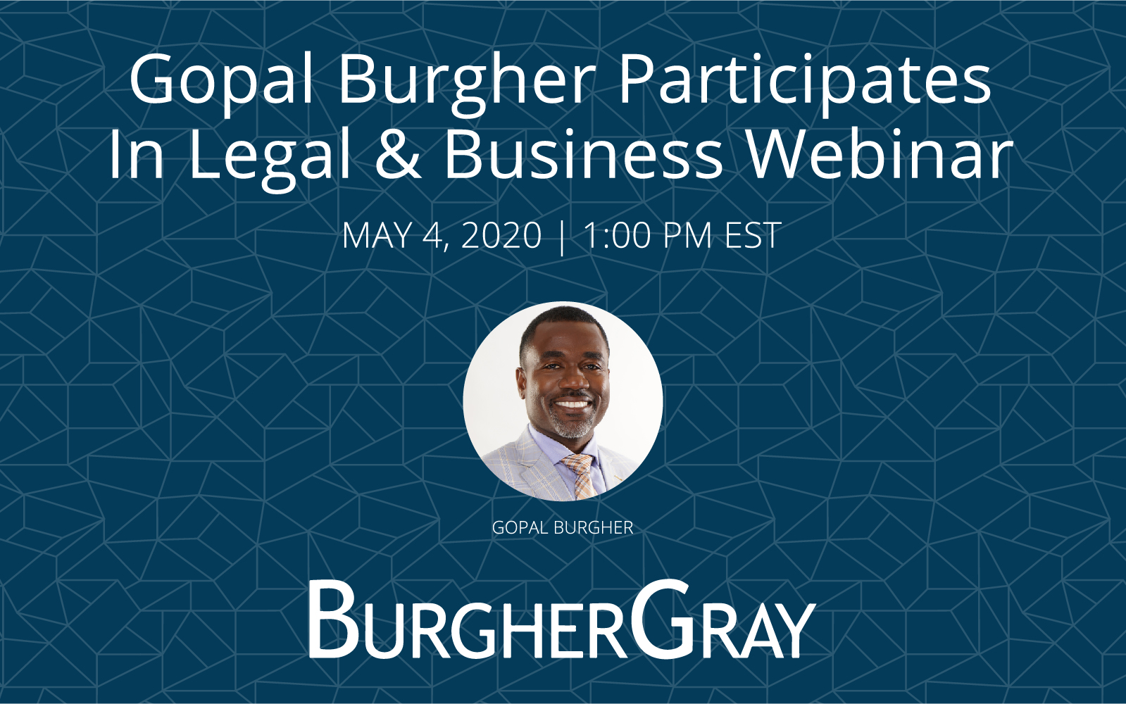 Gopal Burgher to participate in Legal & Business Webinar on May 4