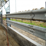 Bolt the guardrail right to what is preexisting – no need for additional braces here.